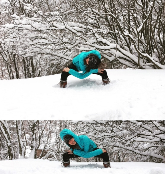 Ski Yoga in Morzine with the Yoga Pixi